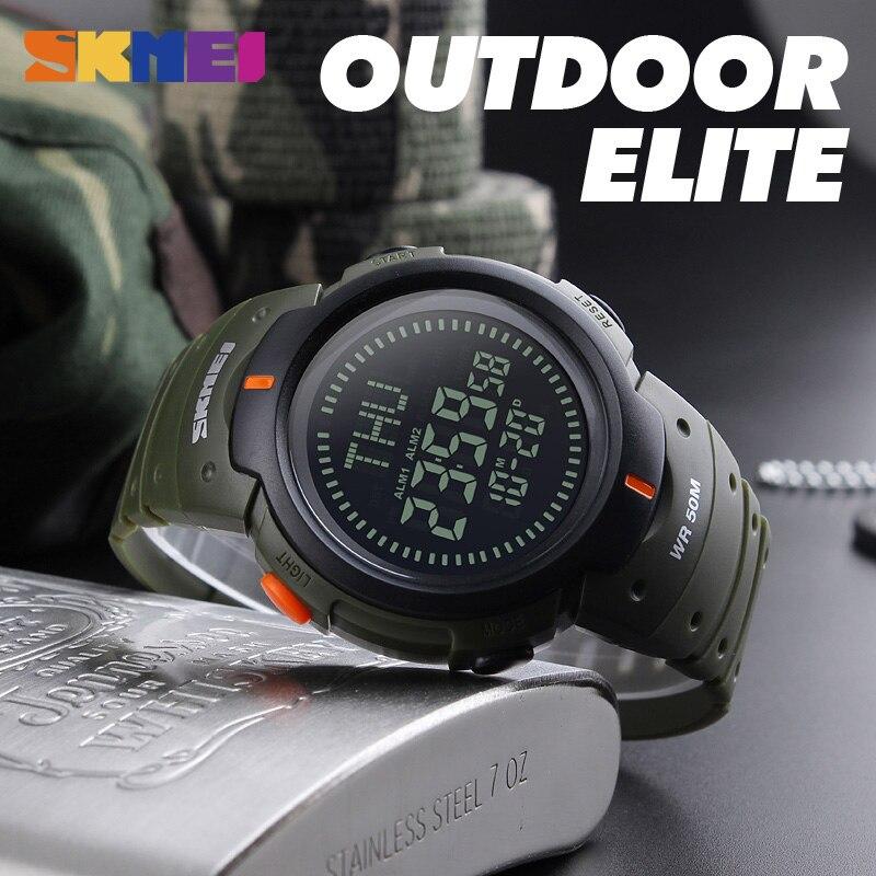 SKMEI Men Compass Sport Watch Թվային բացօթյա - Տղամարդկանց ժամացույցներ - Լուսանկար 4