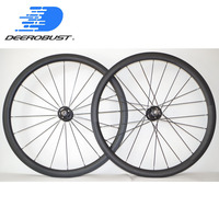 1532g TRACK 700C 38mm x 25mm U Shaped Carbon Clincher Fixed Gear Front and Rear Bike Wheels Bicycle Wheel set Novatec Track hubs
