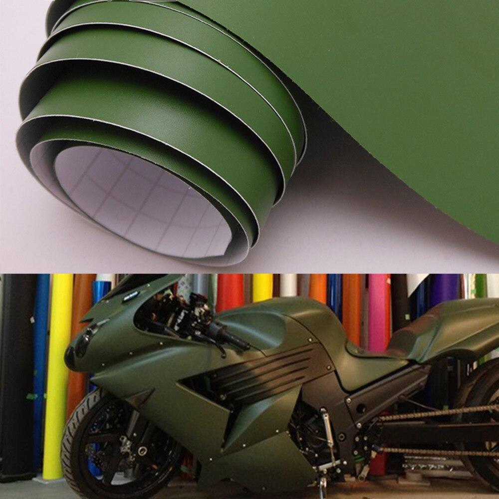 Matte vinyl wrap car sticker army green car styling film with air bubble free 30cm 40cm