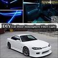 Para Nissan Silvia S13 S14 S15 200SX 240SX Tuning Luz Ambiental interior Atmósfera Luces De Fibra Óptica De Banda Panel de La Puerta Interior