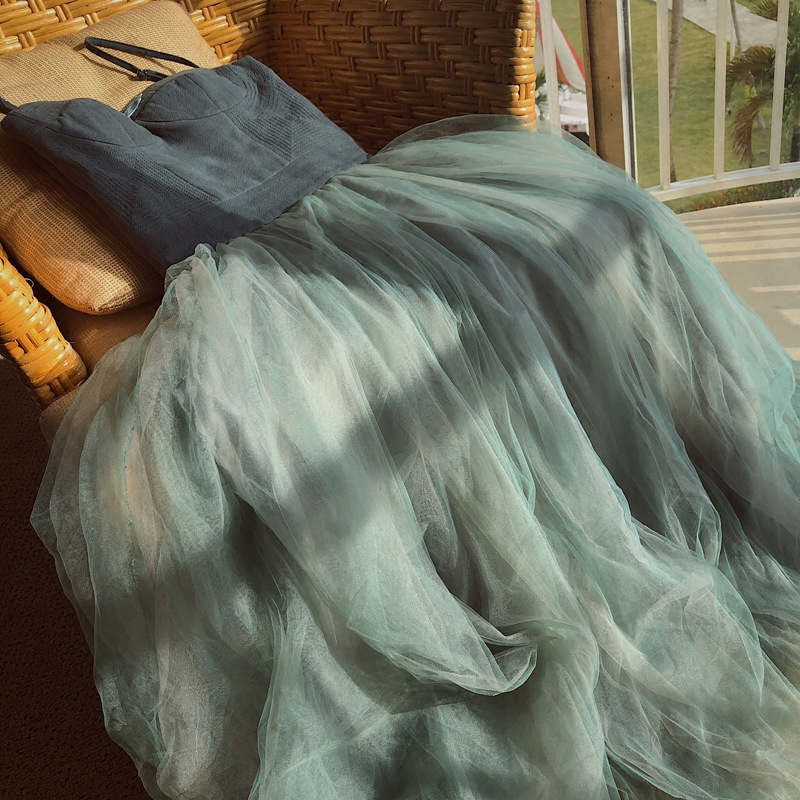 2019 Spring New Arrival Suspender High Waist Slim Fairy Women Dress Fashion Sweet Large Pendulum Tulle Dress Free Shipping