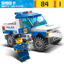Gudi City Mini Police Swat Car Building Blocks Set Policemen Minifigures Kids Educational Toys Compatible with Lego