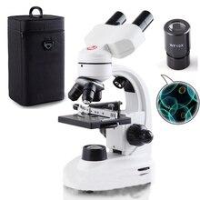 Professional optical microscope biological experiment 5000X high-powered portable electronic sperm binocular microscope