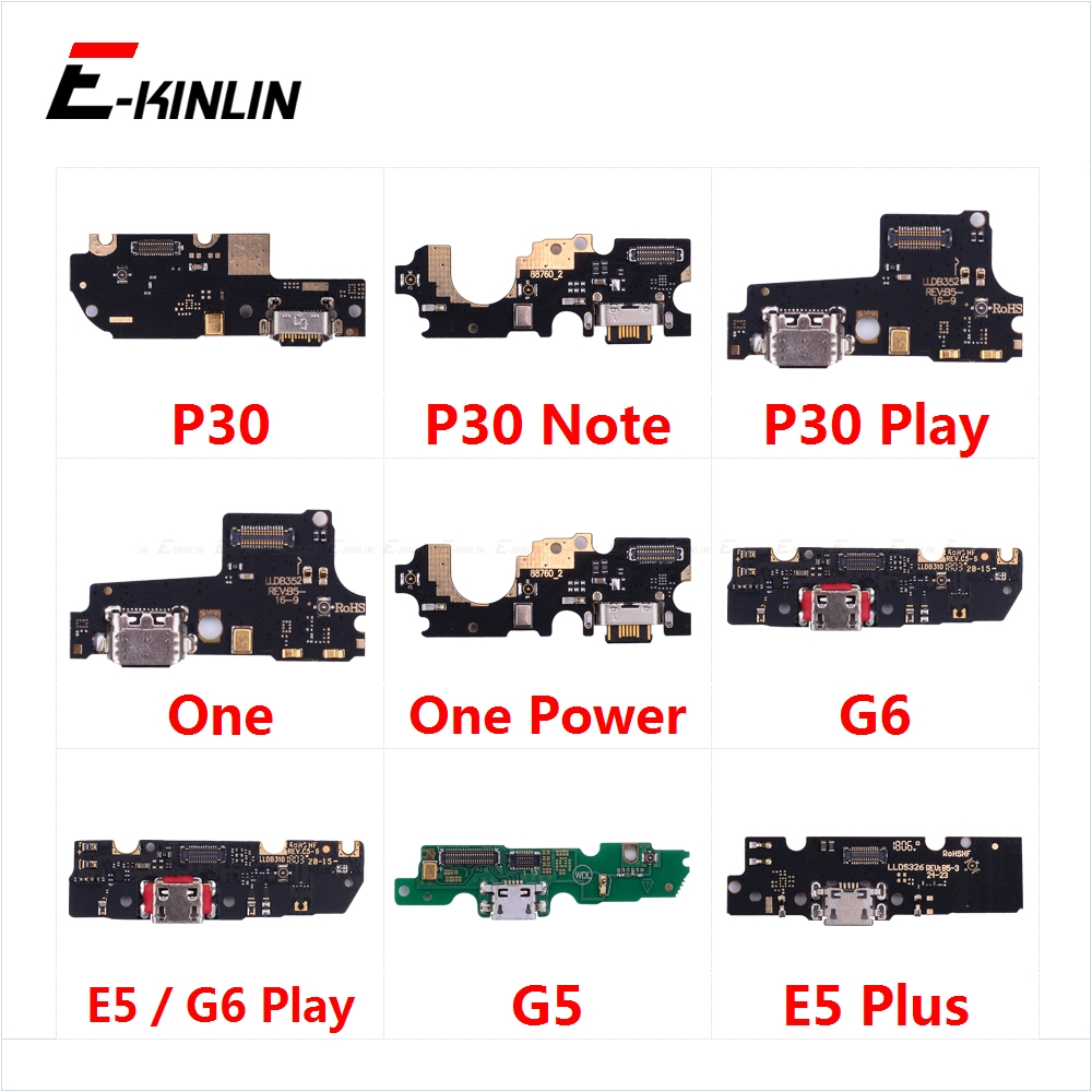 Charging Port Connector Board Parts Flex Cable With Microphone Mic For Motorola Moto P30 Note One Power G6 Play G5 E5 Plus