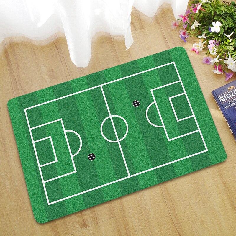 Zeegle Doormat Outdoor Football Field Pattern Floor Mat