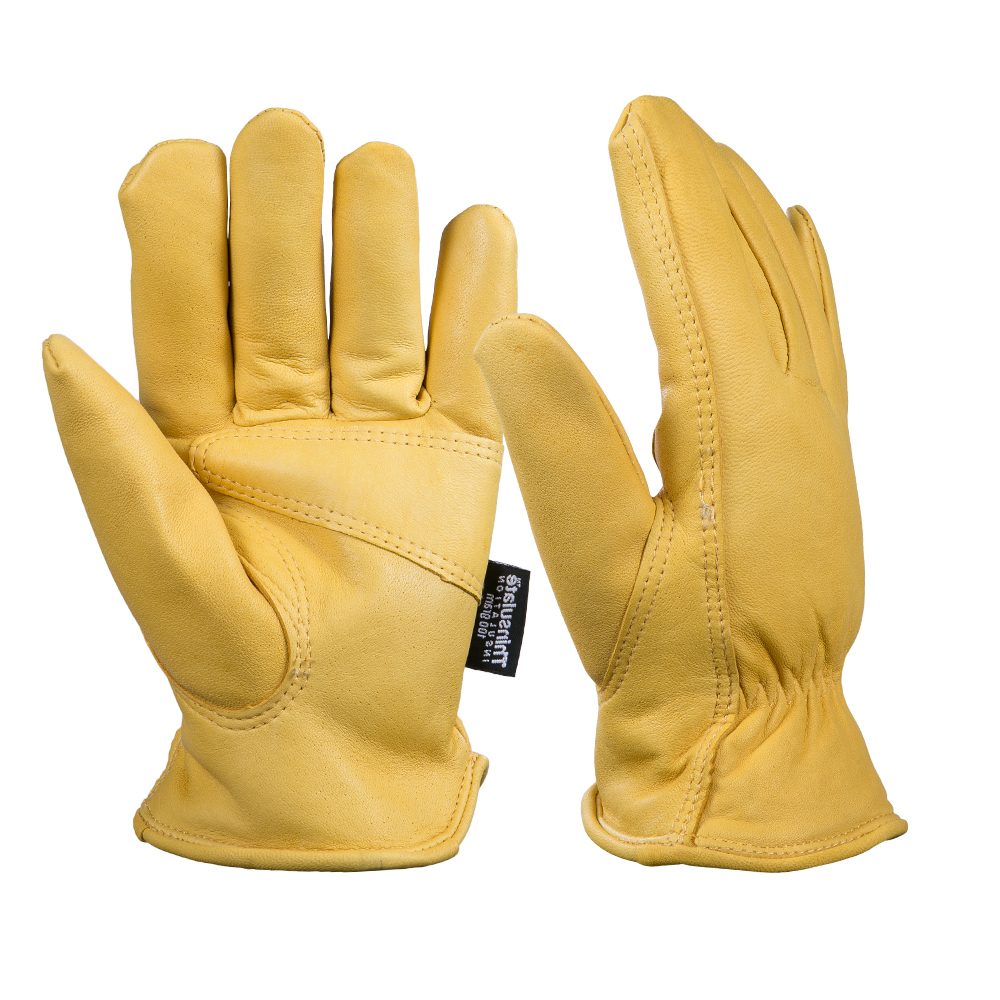 Leather work gloves china - Men S Work Gloves Mechanic Goat Leather Impact Garden Gloves Welding Soft And Flexible Ski Warm