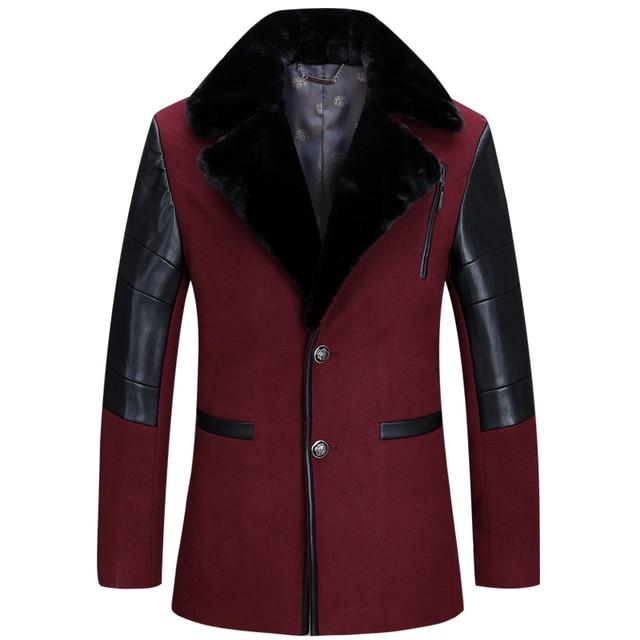 2016 venta como las tortas calientes Hombres gabardina abrigo de los nuevos hombres de manga larga slim-fit Single-breasted hombres moda trench coat180