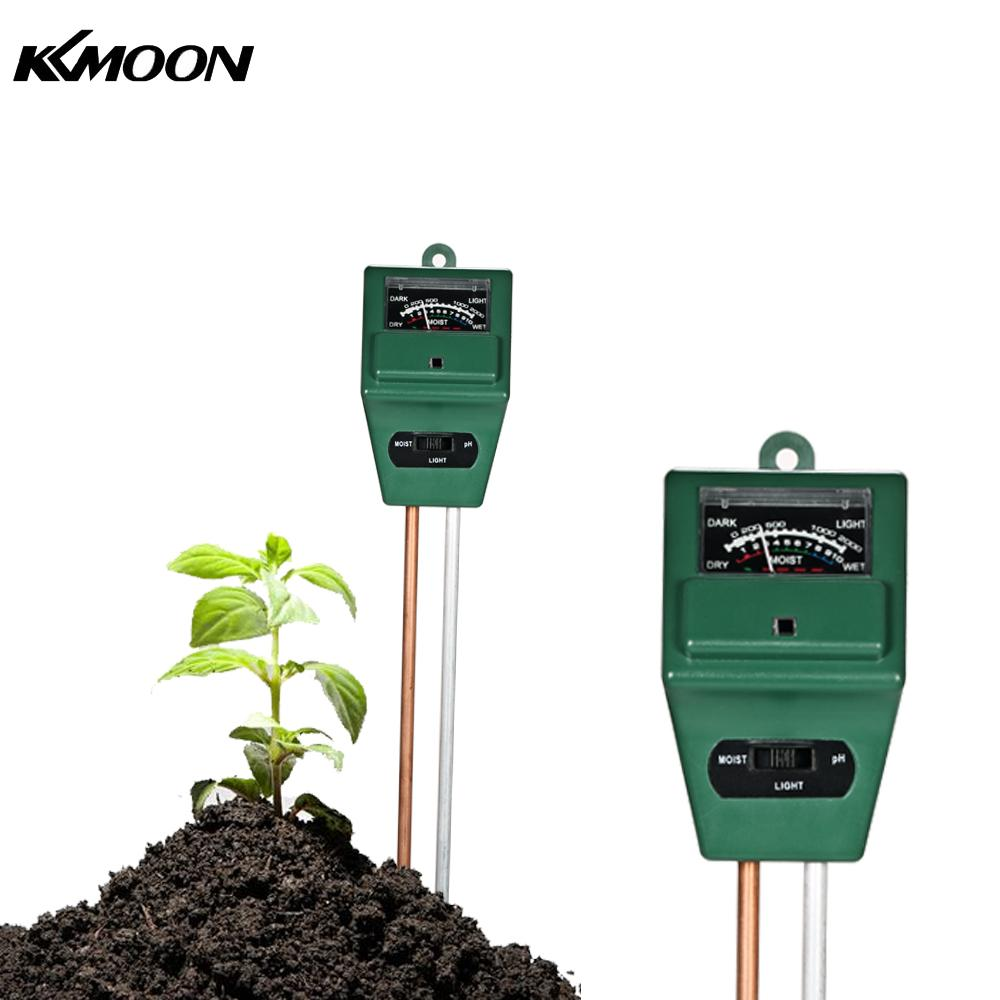 цена на KKmoon 3-in-1 Soil Tester Moisture Meter PH Meter PH Moisture Sunlight Intensity Garden Plant Flower PH Tester