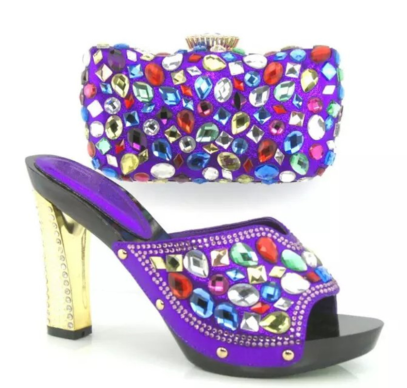 ФОТО New Arrival African Shoes And Matching Bag Set For Wedding High Quality Women Shoes And Bags HY3011 Free Shipping!12CM HIGH HEEL