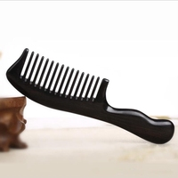 Natural Ebony Comb Household Wide Tooth Massage Curly Hair Black Sandalwood Comb