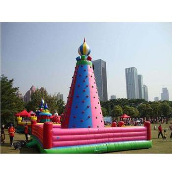 Sprzęt sportowy w połączeniu nadmuchiwana ściana wspinaczkowa dla dzieci tanie i dobre opinie XZ-CW-041 Dziecko Sport equipment Combined inflatable climbing wall for kids 0 5mmPVC 110-220v Large Outdoor Inflatable Recreation