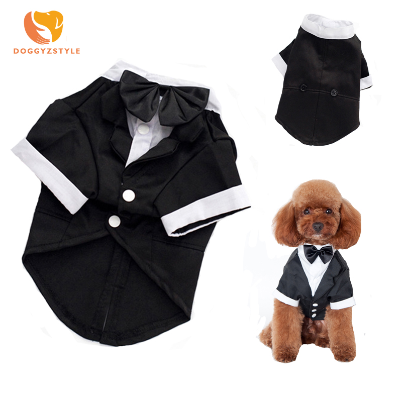 Dog Gentleman Suit Dress Clothes Wedding Dress for Dogs Cats Male Dog Suits Dog Wedding Dresses Pet Clothing S-XXL DOGGYZSTYLE