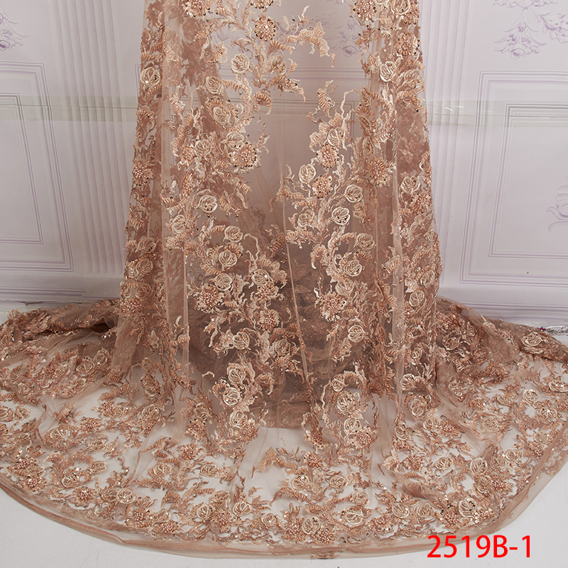 8 Colors Luxury French Mesh Lace Fabric 2019 High Quality Nigerian Lace Fabric Handmade Beaded Lace for Wedding Party APW2519B8 Colors Luxury French Mesh Lace Fabric 2019 High Quality Nigerian Lace Fabric Handmade Beaded Lace for Wedding Party APW2519B