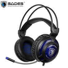 Sades SA-805 2016 New Xbox One/PS4 Gaming Headphones Over Ear Stereo Headset with Microphone for Computer Gamer casque sades sa 903 usb 2 0 gaming headphones w microphone black red 300cm cable