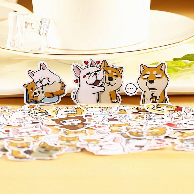 40pcs Creative cute kawaii self-made DOCA II dog animal scrapbooking stickers /decorative sticker /DIY craft photo albums