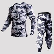 Быстросохнущая Для мужчин для бега 2 шт./компл. сжатия спортивные костюмы Для мужчин баскетбольные тайтсы одежда тренажерный зал Фитнес Спортивная одежда для бега