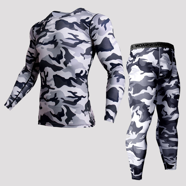 Quick Dry Men's Running Sets 2 pieces/sets Compression Sports Suits Men Basketball Tights Clothes Gym Fitness Jogging Sportswear