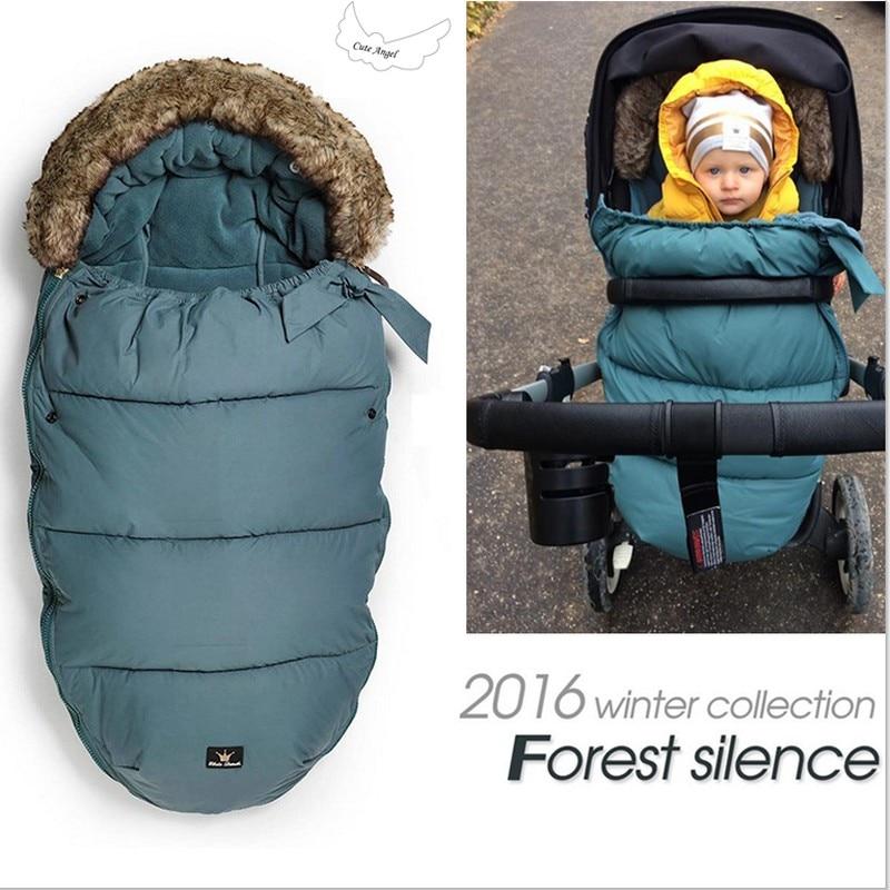 Elo Details Fur Collar Baby Stroller Sleeping Bag Winter Envelope Accessories In Sleepsacks From Mother Kids On Aliexpress Alibaba