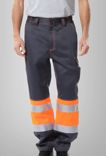 men's reflective pant with side pockets mens cargo pants men's safety working pant Mens High Visibility Trousers orange 1pcs 1