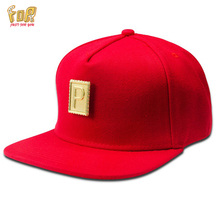 JFY Classic Gold Letter P Logo Flat-Brimmed Hat 4Colors Sport Cotton Flat Baseball Adjustable Caps Snapback Gorras For Women/Men