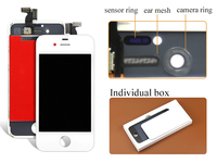 alibaba china highscreen DHL 10pcs For iPhone 4S LCD Display Touch Screen Digitizer assembly Free shipping Black or white