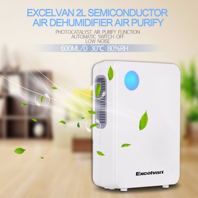 Excelvan EF8886 2L Portable Semiconductor Air Dehumidifier Ultra Low Noise  Environment Friendly Air Purify
