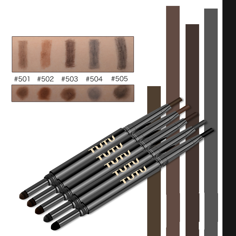 TUTU szemek smink új vízálló automata szemöldök ceruza toll szem szemöldök sobrancelha bélés smink szépség eszköz tartós zsírkréta