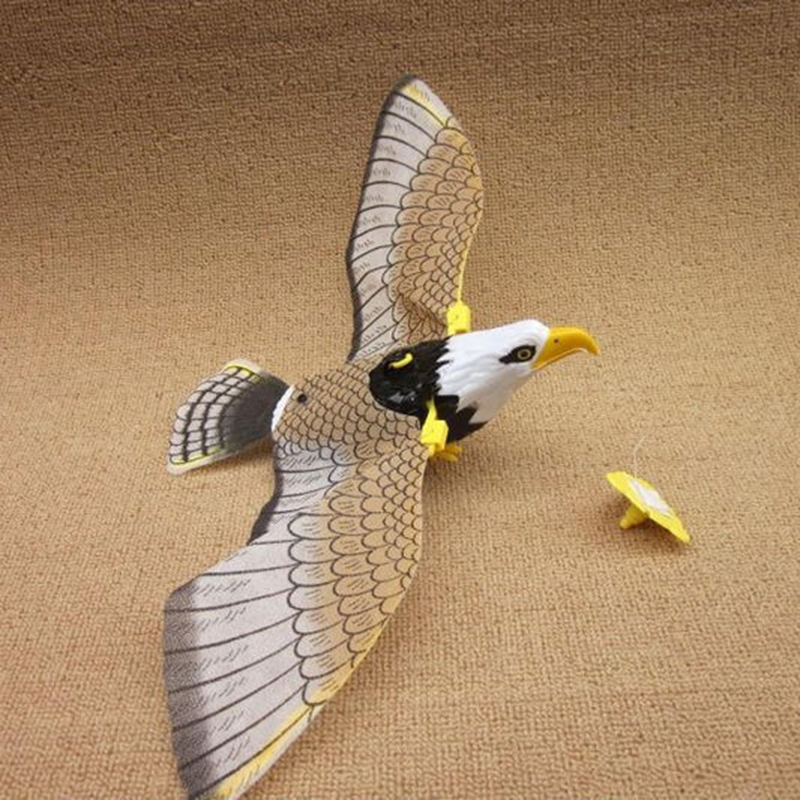 1pc Hot Sale Creative Electronic Eagle Sling Hovering Hawk Birds Toy With Flashing Sounding Electrical Pet Gifts Kids Chrismas