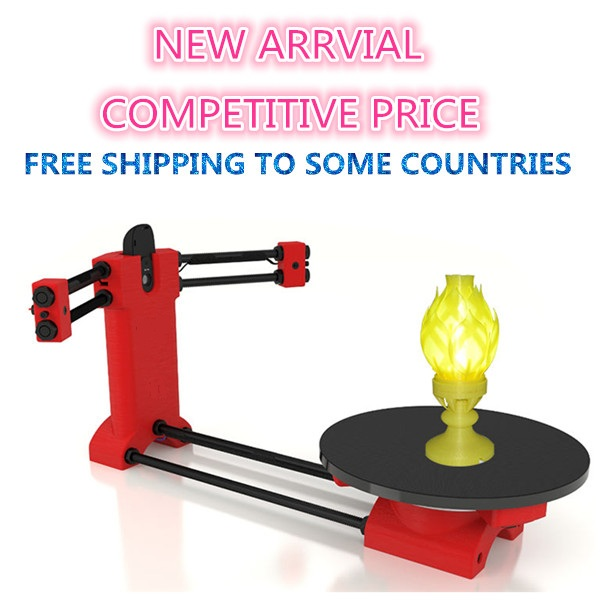 Ciclop  3d scanner DIY kit,Open source 3D scanner ,Red  plastic injection molding parts free shiping ciclop diy 3d three dimensional scanner adapter plate precision machine parts for 3d printer parts