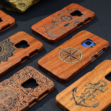 Drewniany etui do Samsung Galaxy Note 9 8 S5 S6 S7 S8 S9 krawędzi Plus telefon pokrywa 100% naturalny bambus ręcznie rzeźbione przypadkach