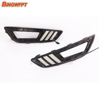 2pcs Pair Turn Signal And Dimming Style Relay 12v LED Car DRL Daytime Running Lights Bumper