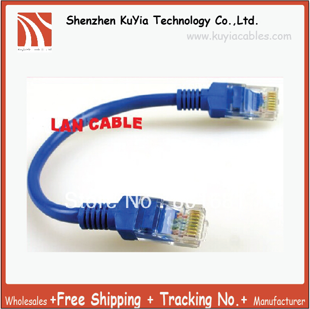 rj45 Male to male Ethernet LAN Network extension Cable blue 20cm