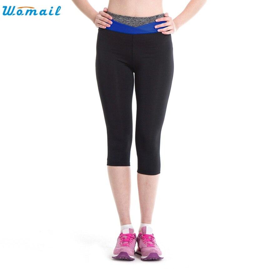 Womail S XL 4 Colors Cropped Leggings Flexible Woman Girls