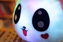 "50cm 20""  Luminous Stuffed Panda Toy LED Light Up Plush Doll Glow Pillow   Auto Color Rotation Illuminated Cushion"