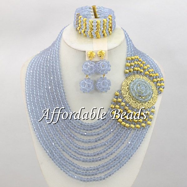 Lilac Beaded Jewelry Sets New Nigerian Beads Jewelry Set Handmade Design Wholesale ABE095Lilac Beaded Jewelry Sets New Nigerian Beads Jewelry Set Handmade Design Wholesale ABE095