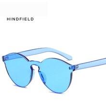 HINDFIELD 2017 New Sun Glasses Women Round Cat Eye Sunglasses Vintage Female Brand Designer Rimless Sunglass UV400 Oculos De Sol