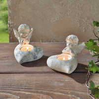 Angel Candlestick Beautifully Furnishing Gifts Tealight Candle Holders Wedding