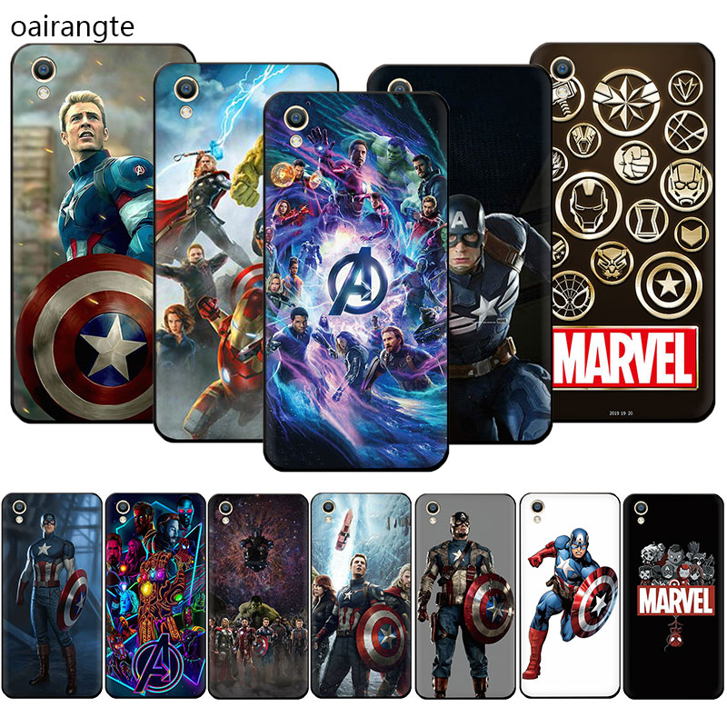 Marvel Superheroes The Avengers <font><b>Soft</b></font> TPU phone <font><b>case</b></font> for <font><b>OPPO</b></font> R17 R15 F11 Pro R11 R9 S A77 A73 A83 A7 <font><b>A37</b></font> A59 A5 image