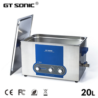 GT SONIC 20L Ultrasonic Cleaner 120W 400W Power Adjustable Ultrasound Cleaning Machine Dental Watches Glasses Coins Tool Part