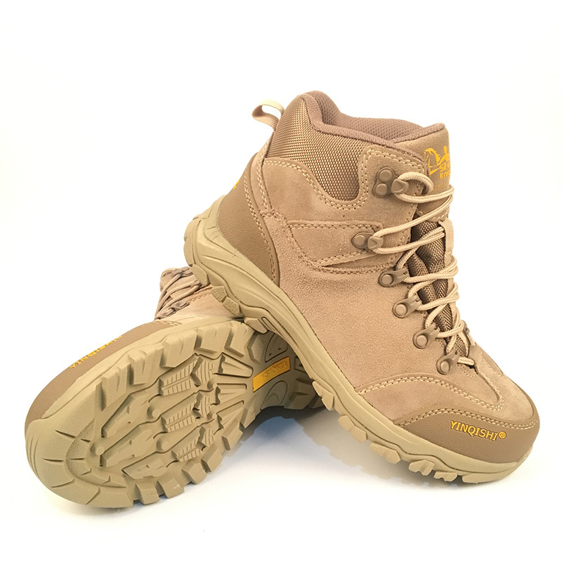 check out 783b0 77eea US $46.58 |Yin qi shi mann winter outdoor schuhe wanderschuhe camping reise  high top wanderschuhe stiefel kuh leder langlebige weibliche plüsch warme  ...