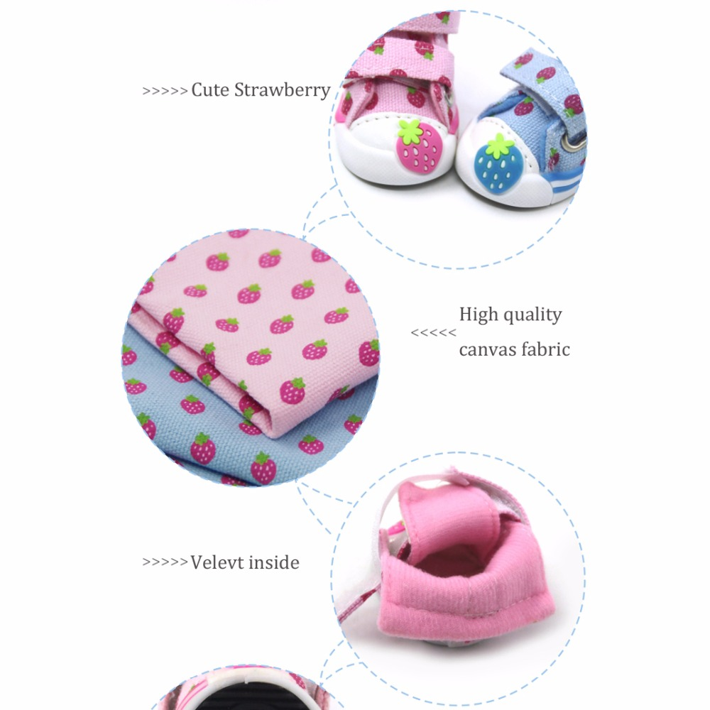 Strawberry Small Dogs Shoes