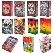 Fancy Design Skull Plastic Soft Portable Cigarette Cases For 20 Cigarette Accessories Men