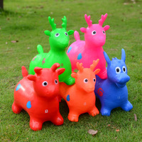 2017 Small Lovely Jumping Deer Inflatable toy Animal Cartoon Mini Jumping HorseToy For Children Gift