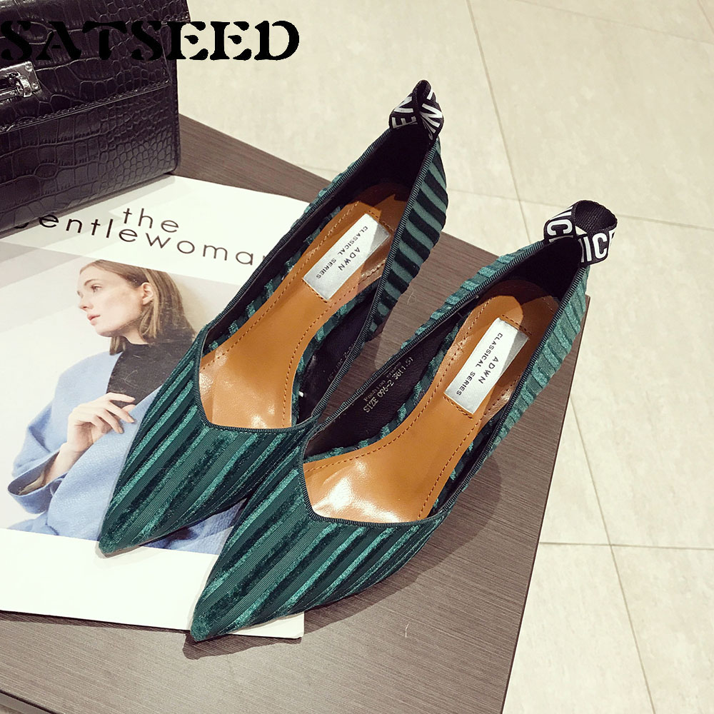 Spring Pump Shoes 2017 Ladies Pumps High Heels Womens Pointed Toe Dress Shoes Blue Pumps Ankle for Women Rubber Sole Fashion New new 2017 spring summer women shoes pointed toe high quality brand fashion womens flats ladies plus size 41 sweet flock t179
