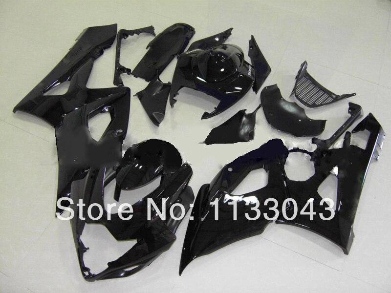 Литья под давлением Новые обтекателя Для SUZUKI GSXR1000 K5 05 06 черный W008695 GSXR 1000 GSX-R1000 GSX R1000 K5 2005 2006 холодный кузов