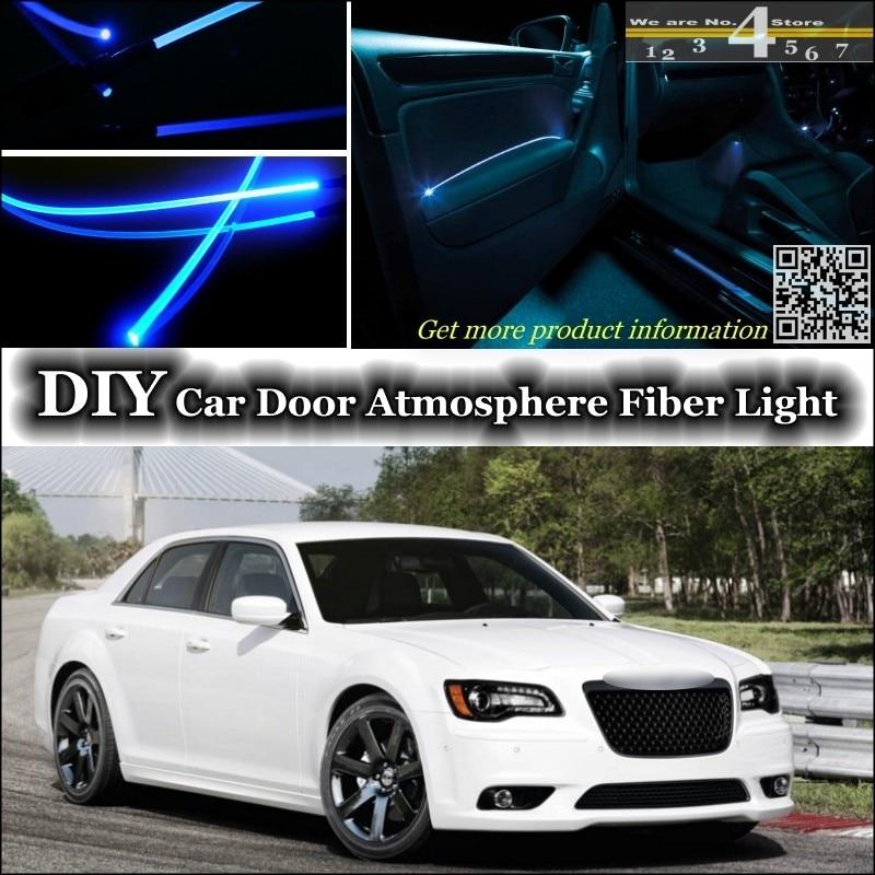 For Chrysler 300 300C For Lancia Thema interior Ambient Light Tuning Atmosphere Fiber Optic Band Lights Door Panel illumination