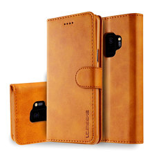 Luxury PU Leather Flip Wallet Case For Samsung Galaxy A6 A7 A8 A9 J4 J6 2018