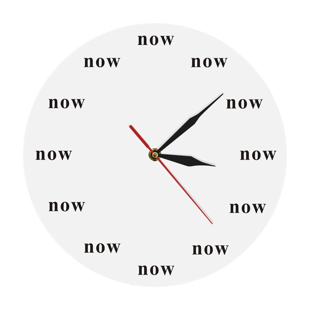 The Time is Now Wall Clock Now Time Motivational Clock
