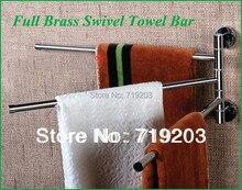 Бесплатная доставка медных хромированный поворотный полотенце бары стойки топ продаж легкая установка аксессуары для ванной комнаты полотенцедержатель