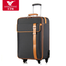 High quality simple fashion style travel luggage bags on universal wheels,male and female 21 25inch leather trunk luggage